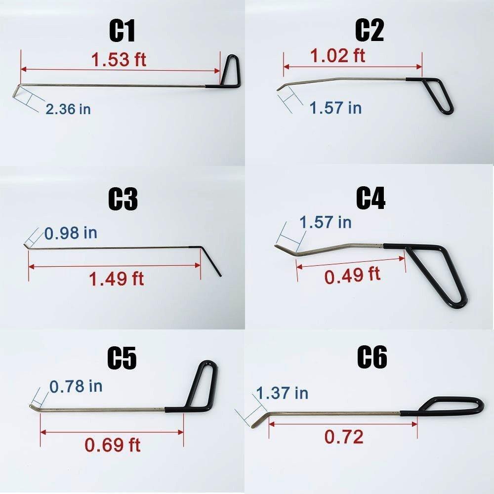 Tools : Paintless Dent Repair Tools Kit Rod ToolsDent Lifter Glue Gun Dent Puller Glue Tabs Line Board Slide Hammer Suction Cup