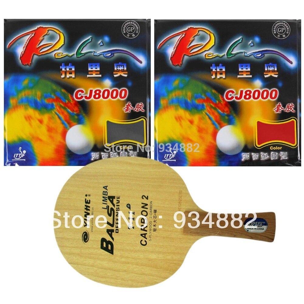 Pro Tennis De Table Combo Paddle/Raquette: Yinhe T-11 + + 2 Pcs Palio CJ8000 (2 Côté Boucle Type) Shakehand Long Manche FL