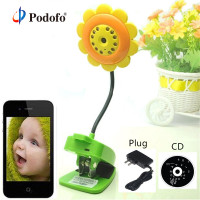 Podofo Sunflower Wireless Wifi Baby Monitor IR Night Vision Infant Digital Video Baby Camera Audio Nanny Home Security IP Camera