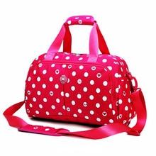 bdeeda5982c4 2018 New style women men sport bag print wave gym shoulder bag nylon  waterproof pop handbag