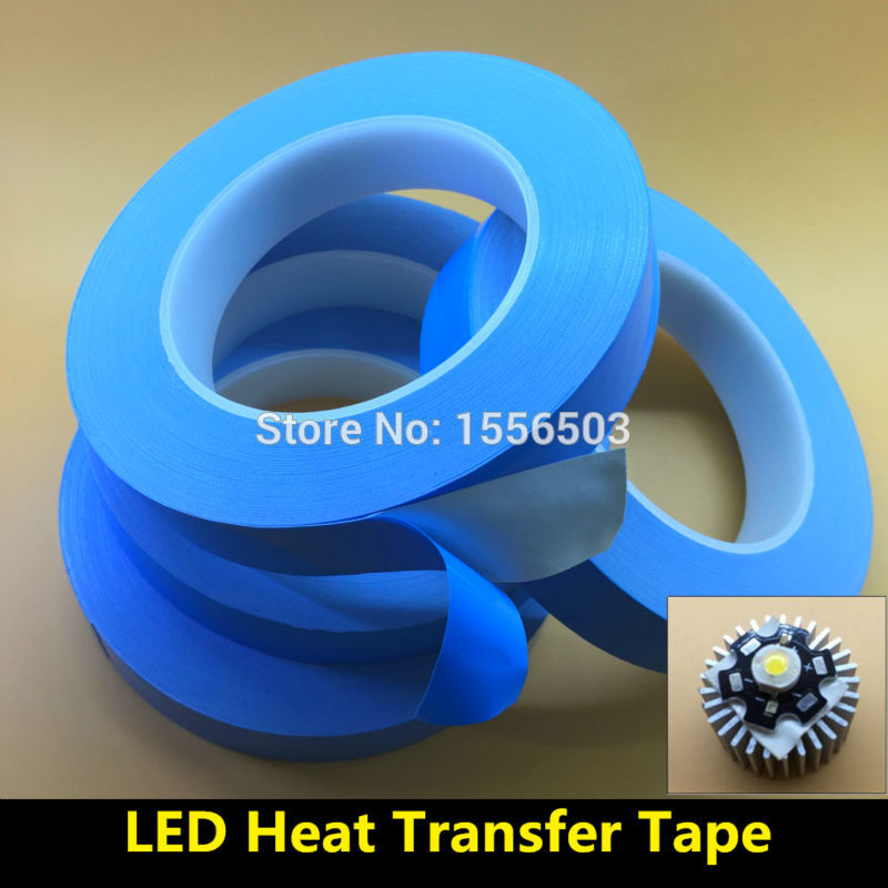 10mm 15mm 20mm Transfer Double Sided Heat Thermal Conduct Adhesive Tape For LED Module Chip PCB Heatsink CPU Instead 8805 RTV