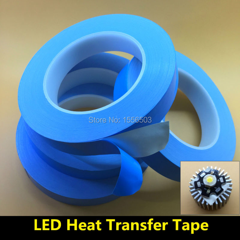 10mm 20mm Transfer Tape Double Sided Heat Thermal Conduct Adhesive Tape for LED Module Chip PCB Heatsink CPU instead 8805 RTV