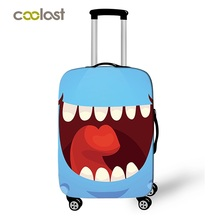 18 28 Inch Funny Emoji Suitcase Cover Women Travel Luggage Suitcase Protector for Boys Girls Trolley