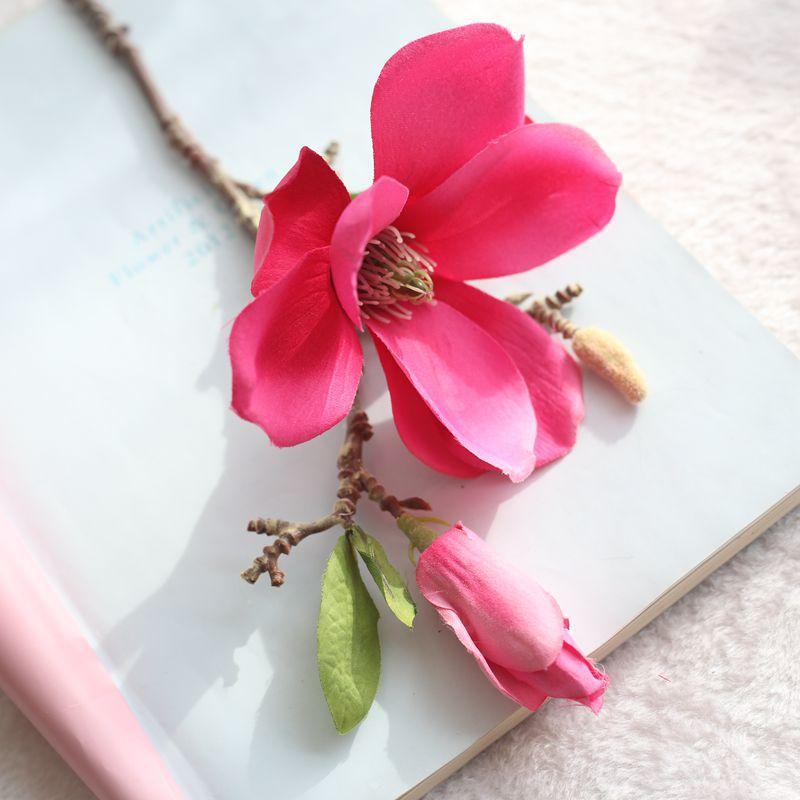 Aliexpress Com Buy Jarown Artificial Magnolia Silk Flower Branch