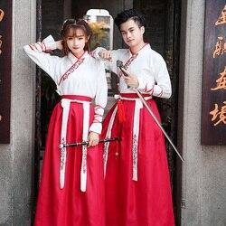 Chino tradicional mujeres Hanfu vestido antiguo disfraz de hada vestido Han dinastía espadachín Ropa de baile estudiante actuación de escenario