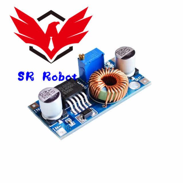 الصانع XL4005 DSN5000 وراء LM2596 DC-DC قابل للتعديل تنحى وحدة امدادات الطاقة 5A للجوال الطاقة Diy روبوت كيت لعبة