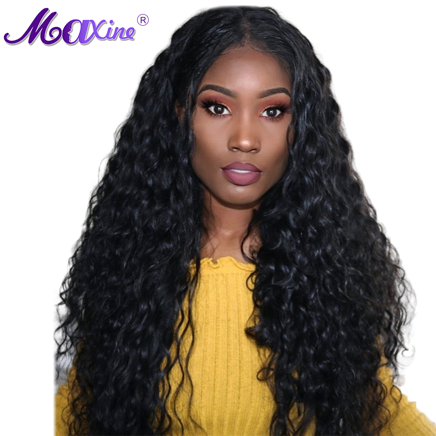 Maxine Pre Plucked 13*4 Lace Front Human Hair Wigs With Baby Hair 130% Density Brazilian Water Wave Lace Wigs  Remy Hair