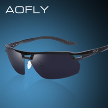 AOFLY Original brand Aluminum Magnesium Sunglasses Polarized Sports Men Driving Sun Glasses Male HD polaroid Eyewear With Case