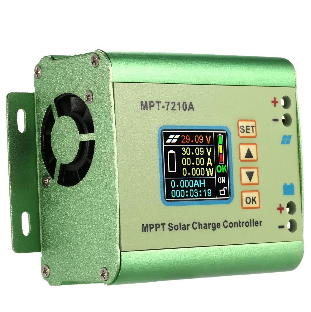 MPPT Painel Solar Controlador de Carga Da Bateria com Display LCD Controlador de Carga Solar 10A Compatível DC-DC Impulso Função de Carga