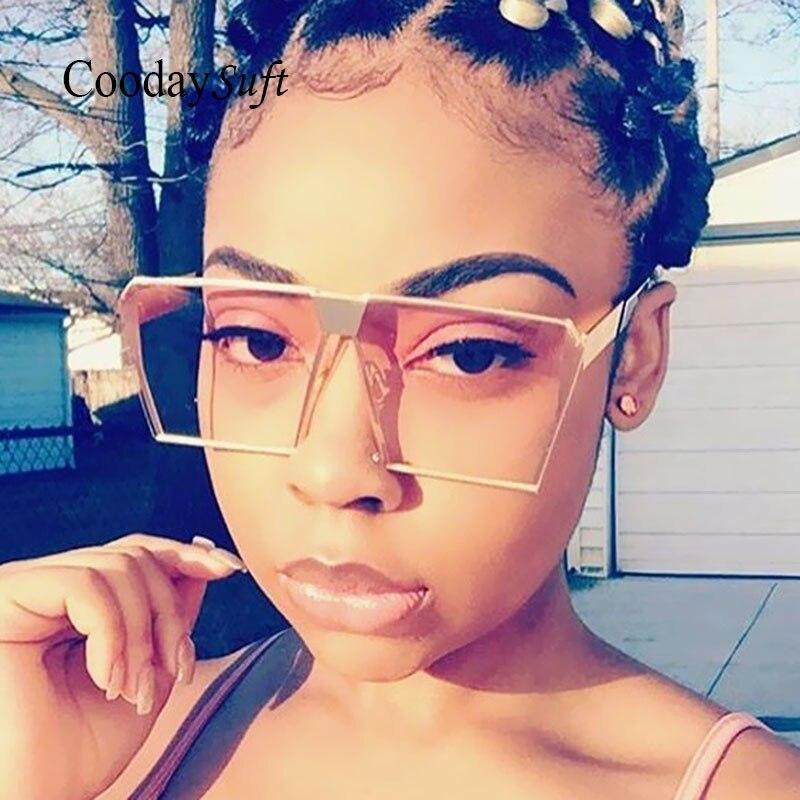 2017 Brand Designer Sunglasses Women Men UV400 Hip Hop Sun Glasses Big Size Oversized Lady Fashion