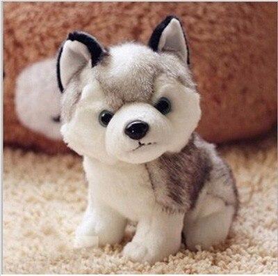 New Arrival 18cm Kawaii Simulation Husky Dog Plush Toy Gift For Kids Stuffed Plush Toy free shipping