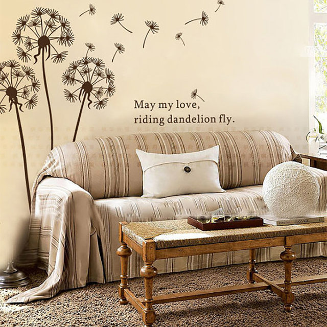 Dandelion Wall Sticker Flower Wall Stickers For Living Room Dandelion Wall  Decals Dandelion Wall Art Flower Home Decor 695