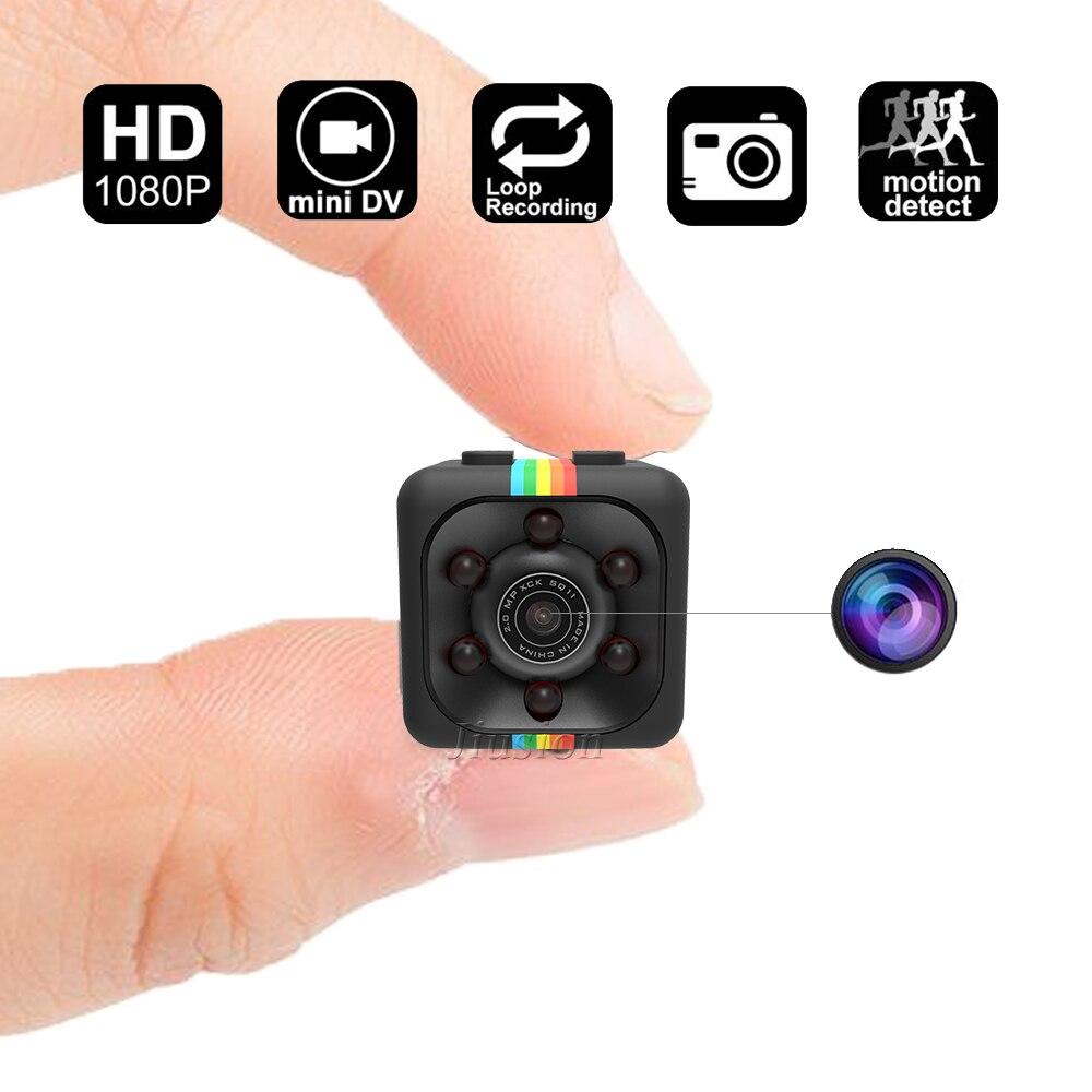 Secret Mini Caméra HD 1080 P Night Vision Motion Capteur SQ11 Sport Caméscope Petit DVR Vidéo Audio Enregistreur De Voiture Casque Micro Cam