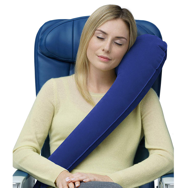 Multifunctional Inflatable Travel Pillow Airplane Car Headrest  Neck Spine Protection Back Soft Air Cushion Scarf Pillow