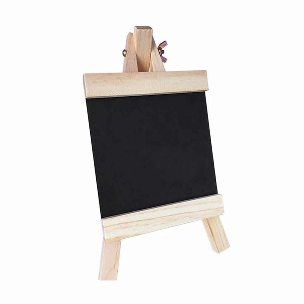 Blackboard 24*13cm Desktop Records Board With Adjustable Wooden Stand Durable Chalk Board Black Board Products For Schools Home