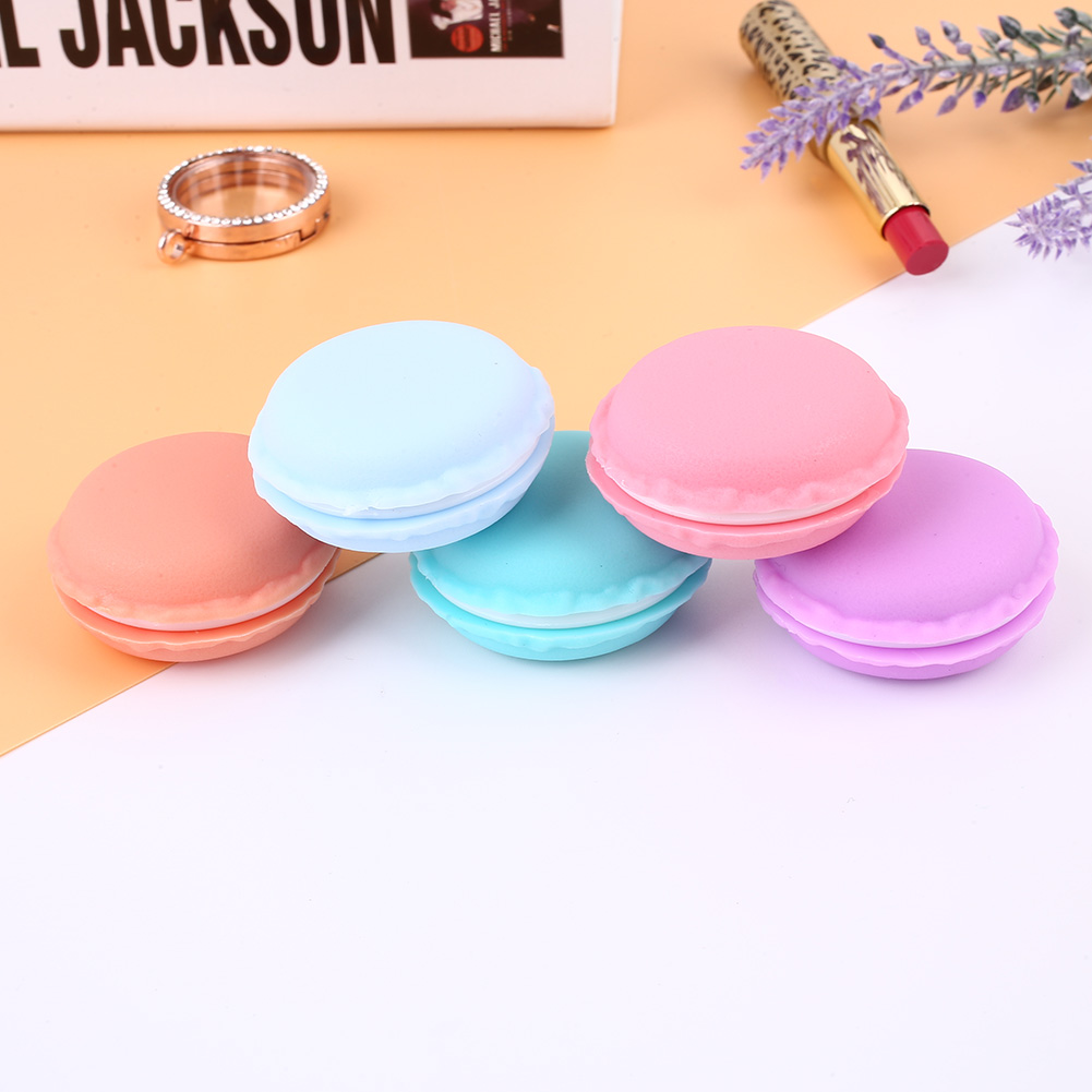 Portable Storage Box Macaroon Jewelry Earphone Pills Case Colorful 4.2X2CM