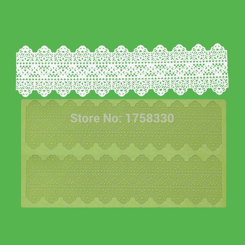 CT405 39.5 * 17CM 실리콘 설탕 레이스 매트 케이크 꾸미시 실리콘 퐁당 금형