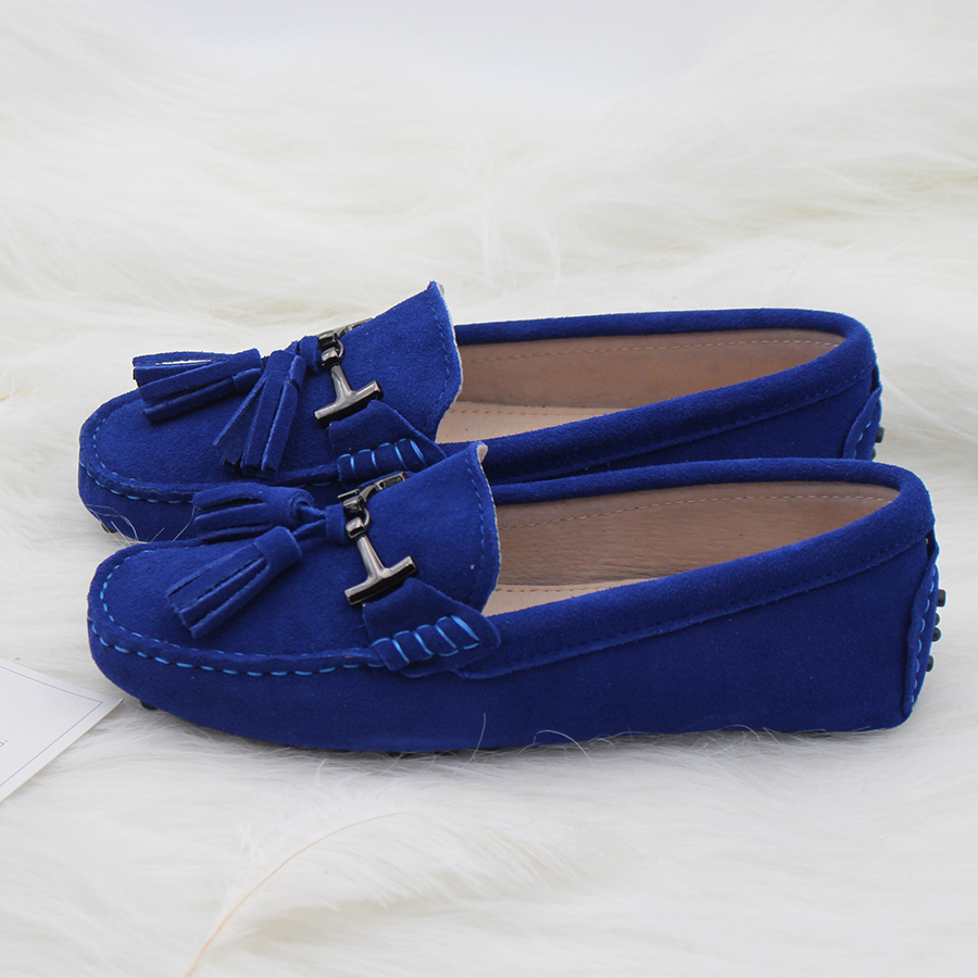 High Quality Women Shoes 100% Genuine Leather Flats Women Causal Shoes Womens Loafers Spring Autumn Driving shoes