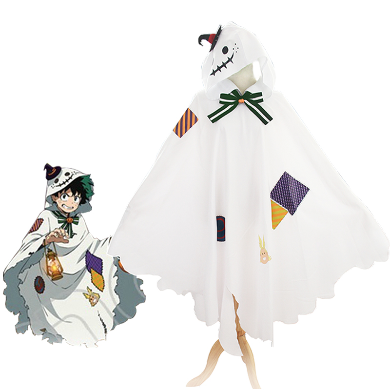 My Boku No Hero Academia Midoriya Izuku Deku Cloak Cape Wig Cosplay Costumes