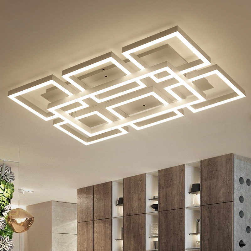 купить New Modern led ceiling chandelier lights for living room bedroom balcony corridor ceiling chandelier lighting lamparas de techo по цене 10281.22 рублей