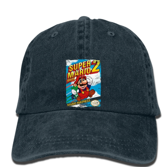 c592b9a351e hip hop Baseball caps Printed Men hat SUPER MARIO BROS 2 NES COVER Women cap