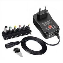 Адаптер 3 в 4,5 в 5 в 6 в 7,5 в 9 в 12 В 2A 2.5A AC/DC Регулируемый источник питания Универсальное зарядное устройство для Светодиодный светильник Светодиодная лента
