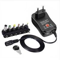 3 V 4,5 V 5 V 6 V 7,5 V 9 V 12 V 2A 2.5A AC/DC адаптер Регулируемый блок питания Универсальное зарядное устройство для светодиодный лампочка Светодиодная лен...