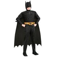 2018 New Arrival Kids Deluxe Muscle Dark Knight Batman Costumes Boys Bat Man Superhero Cosplay Costume
