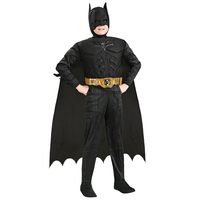 2018 New Arrival Kids Deluxe Muscle Dark Knight Batman Costumes Boys Bat Man Superhero Cosplay Costume