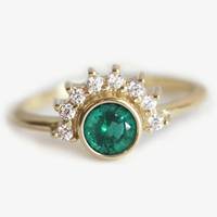 Emerald Engagement Ring Emerald Topaz Ring Topaz Emerald Ring Solitaire Emerald Ring Gold Emerald Ring USD