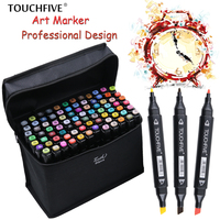 Touchfive 80 Colors Art Marker Set Alcohol Based Brush Pen Liner Sketch Copic Markers Touch Twin