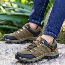 Открытый Кружево-Up Пеший Туризм Сапоги и ботинки для девочек спортивные Мужская обувь для кемпинга Восхождение Mountain противоскользящие дышащая обувь для бега Пеший Туризм
