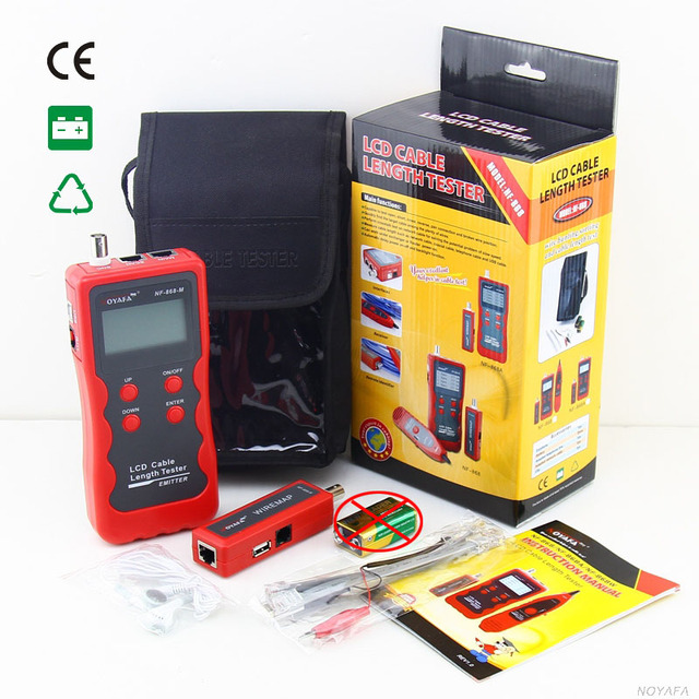 Original Cable Length Tester Emitter NF-868A LCD English Version lan tracker finding NF_868A