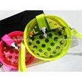 Designer Jelly Neon Color Transparent Round Studded Cross body Zipper Bag For Summer