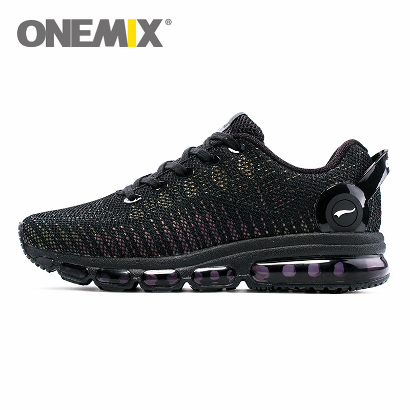 New Mens Woven Mesh Outdoor Running Sneakers Summer Sports Fitness Road Shoes Thick Sole Breathable Ergonomic Shoes Black, 7