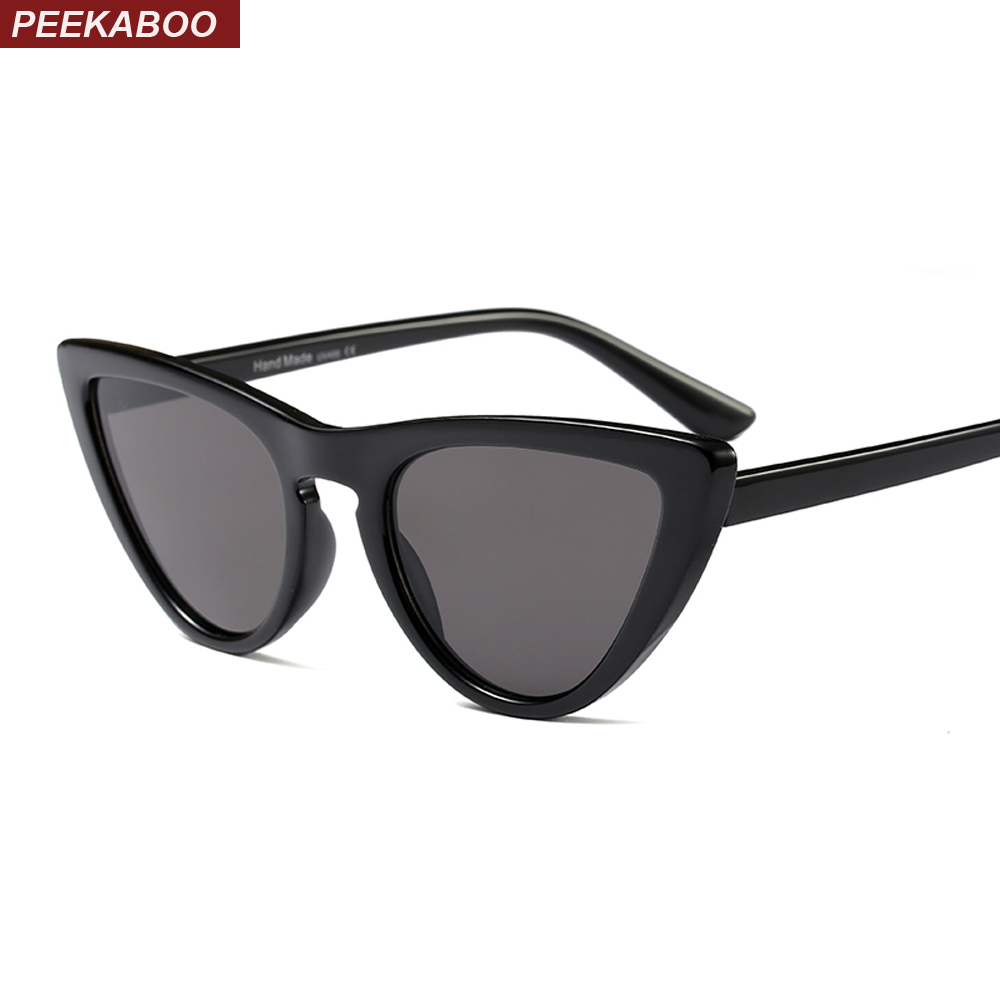 Peekaboo vermelho pequenos óculos de sol mulheres olho de gato do vintage  2018 designer de preto branco sexy cat eye shades para mulheres baratos  uv400 em ... ed4dfd5ebd