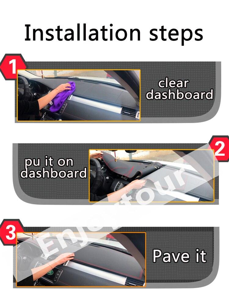 Pour Land Rover Freelander LR2 2006-2014 cuir Dashmat couverture de tableau de bord voiture Pad Dash Mat parasol tapis couverture 2007 2008 2009 - 6