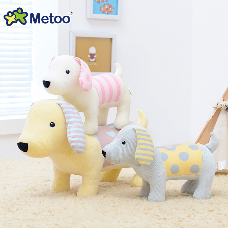 27cm Kawaii Stuffed Plush Animals Cartoon Kids Toys for Girls Children Baby Birthday Christmas Gift Dog Metoo Doll stuffed dog plush toys black dog sorrow looking pug puppy bulldog baby toy animal peluche for girls friends children 18 22cm