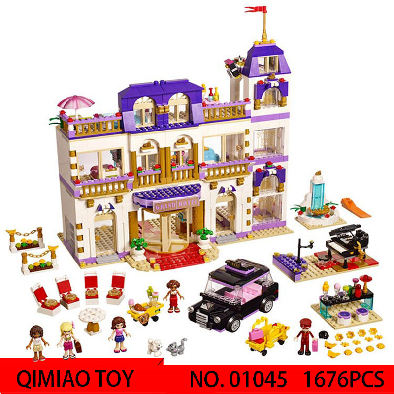 LEPIN01045 1676PCS Girls Series Heart Lake City Hotel Science  education for children spell plug building block toys with 41101 lego education 9689 простые механизмы
