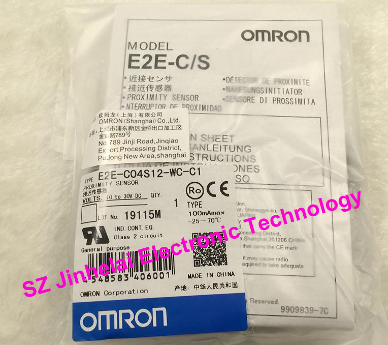 New and original  E2E-C04S12-WC-C1, E2E-C04S12-WC-B1  OMRON  Proximity sensor,Proximity switch, 10-30VDC e2ec c1r5d1 e2ec c3d1 new and original omron proximity sensor proximity switch 12 24vdc 2m