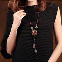 Vintage Choker Necklace For Women Rope Chain Long Necklaces & Pendants Collier Female Maxi Fashion Jewelry Harajuku Bijoux 2018