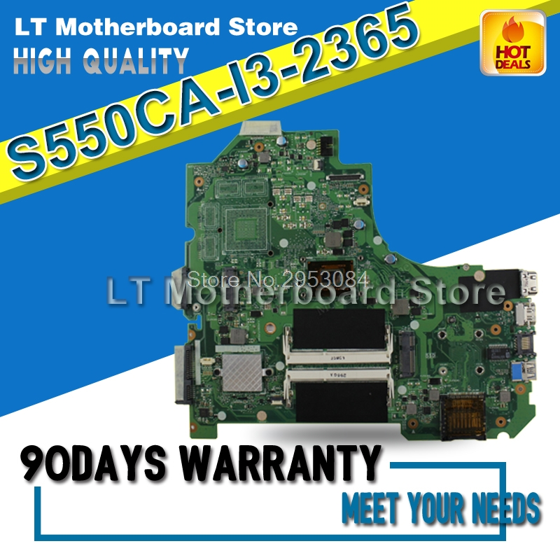 Laptop Motherboard For ASUS S550CA I3-2365 System Board Main Board Mainboard Card Logic Board Tested Well Motherboard S-4 used for toshiba 281c 351c 451c copier motherboard logic board interface board lgc board