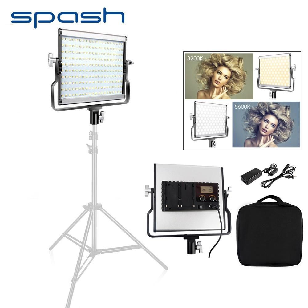 Spash L4500 Portátil CONDUZIU A Luz De Vídeo Bi-color 3200 k-5600 k Dimmable Iluminação Fotografia Photo Studio Luz metal Da Lâmpada Do Painel