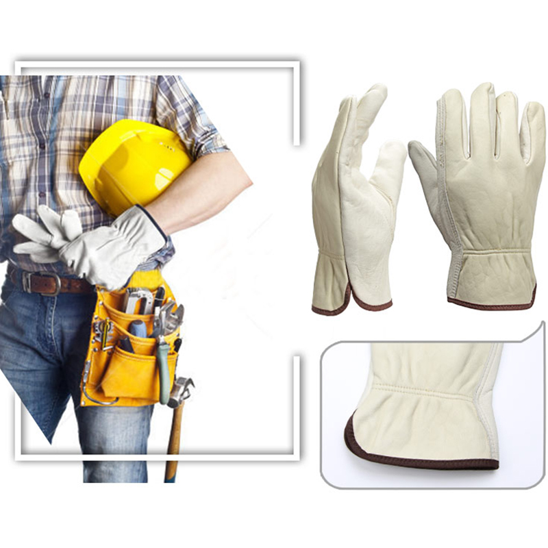 Image 3 - OZERO New Men's Work Gloves Goat Leather Security Protection Safety Cutting Working Repairman Garage Racing Gloves For Men  0013-in Safety Gloves from Security & Protection