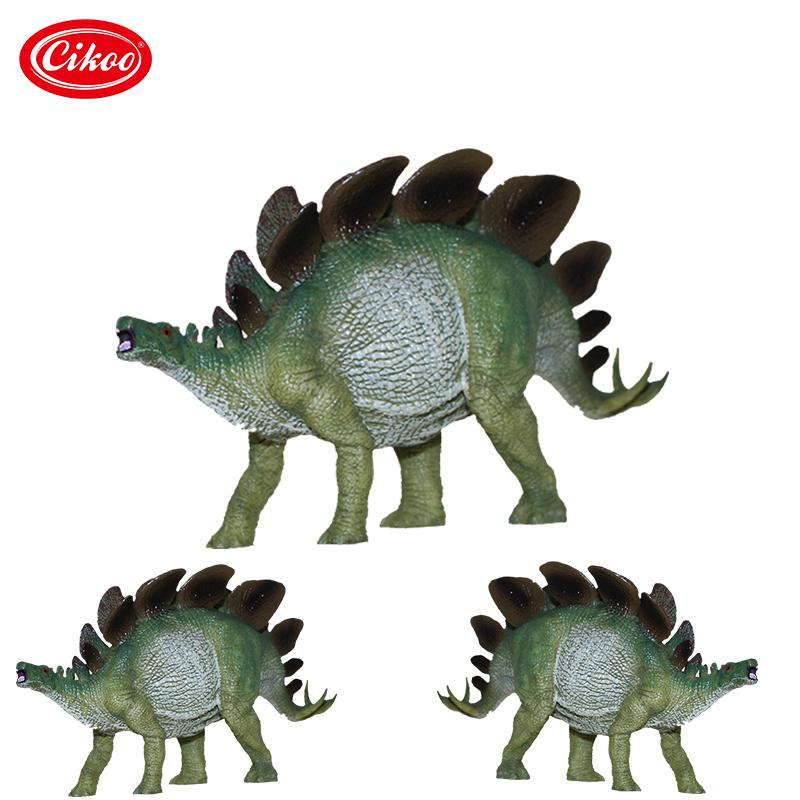 Jurassic World Park Stegosaurus Dinosaur Action Figure Toys Plastic Animal Model Hight Simulation Kids Gifts dinosaur transformation plastic robot car action figure fighting vehicle with sound and led light toy model gifts for boy