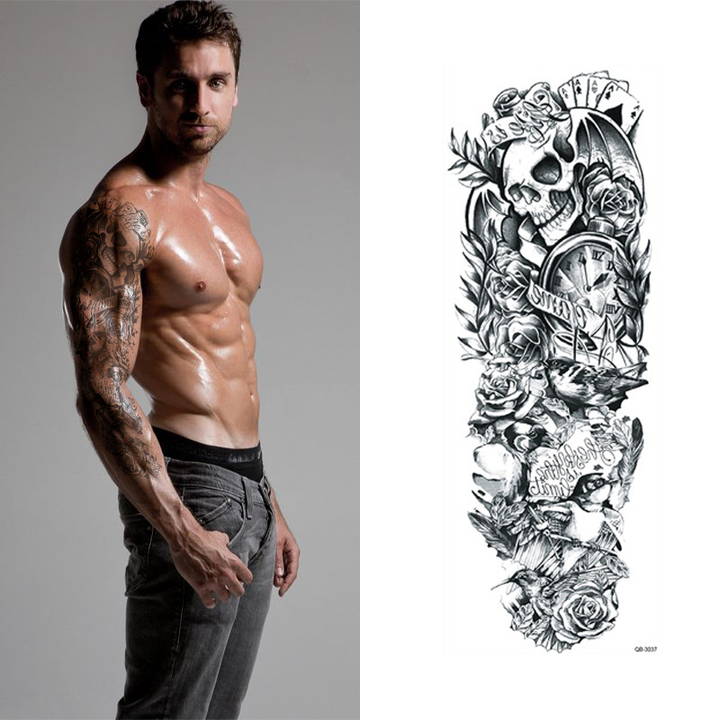 Skull composition temporary tattoo for Cool mens tattoos