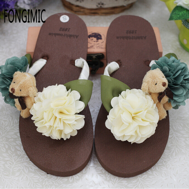 4c670226c4a1 New top sale handmade flowers summer women flip flops fashion flat with big  flower sandals beach holiday comfortable flip flops