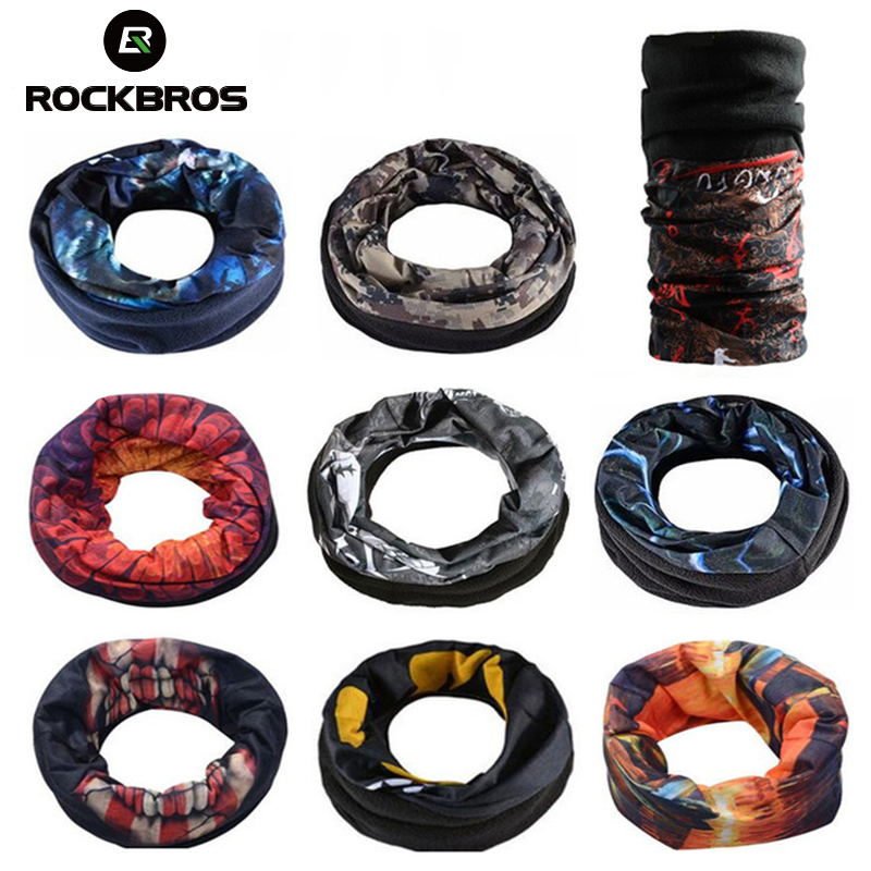 ROCKBROS Cycling Fleece Thermal Magic Scarf Sports Bike   Headwear   Headband Neck Warmer Mask Scarf Bandana Bike Bicycle Equipment