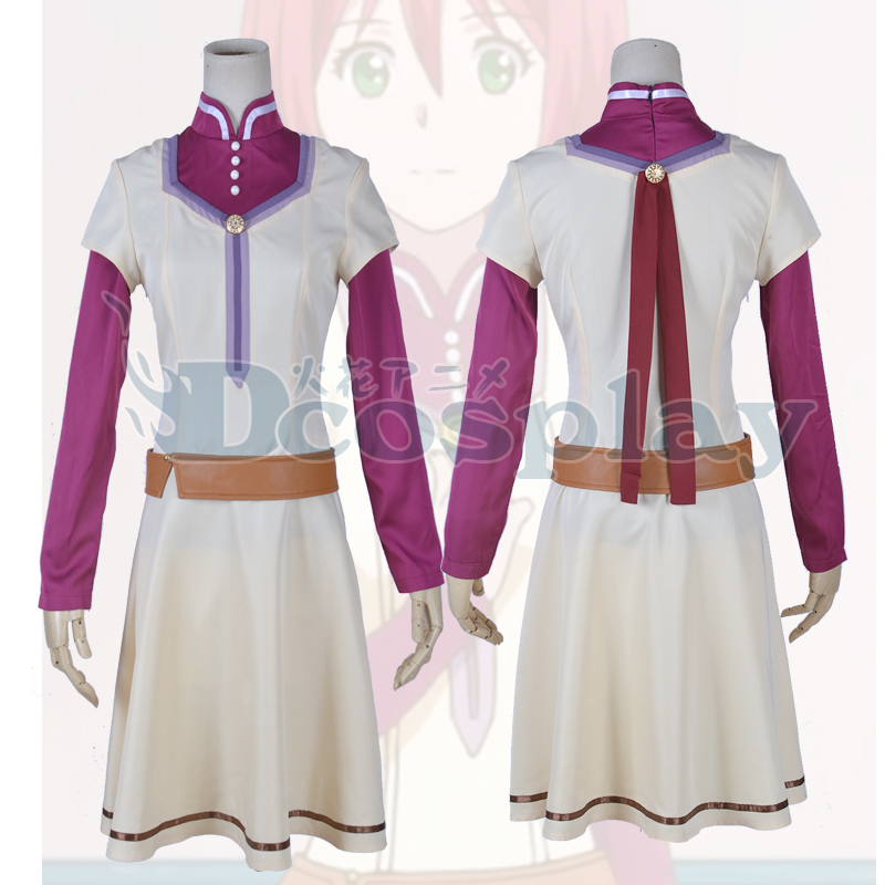 Snow White with the Red Hair Shirayuki cos Dress Cosplay Costume Halloween Costume for women