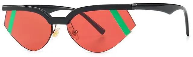 Cat Eye Half Frame Sunglasses women Fashion 2019 Italy and South Korea Cooperation Designer Capsule Sun Glasses Female